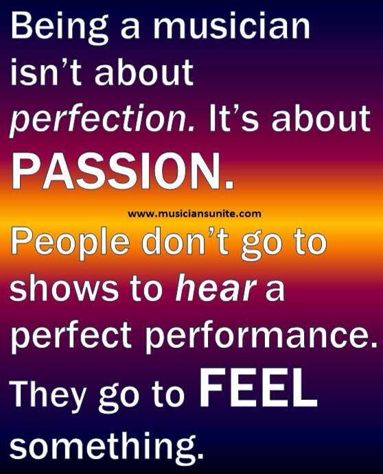 Music is Not Perfection