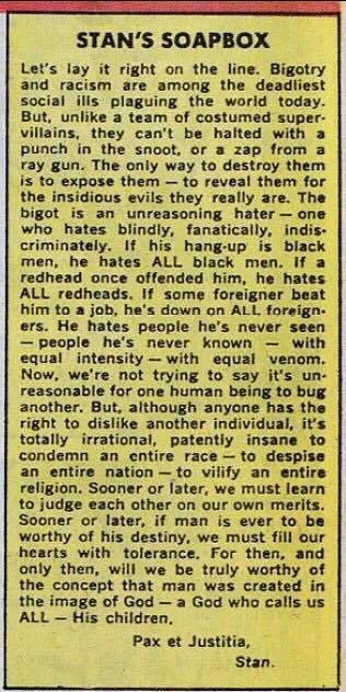 Stan Lee on Racism
