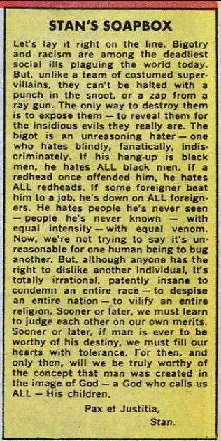 Stan Lee on Racism