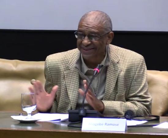 Professor Mogobe Ramose