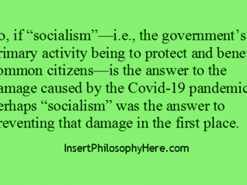 Socialism and Covid-19
