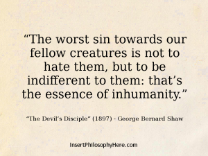Shaw - indifference evil