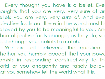 You are your beliefs