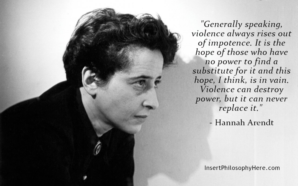 Arendt on violence as impotence
